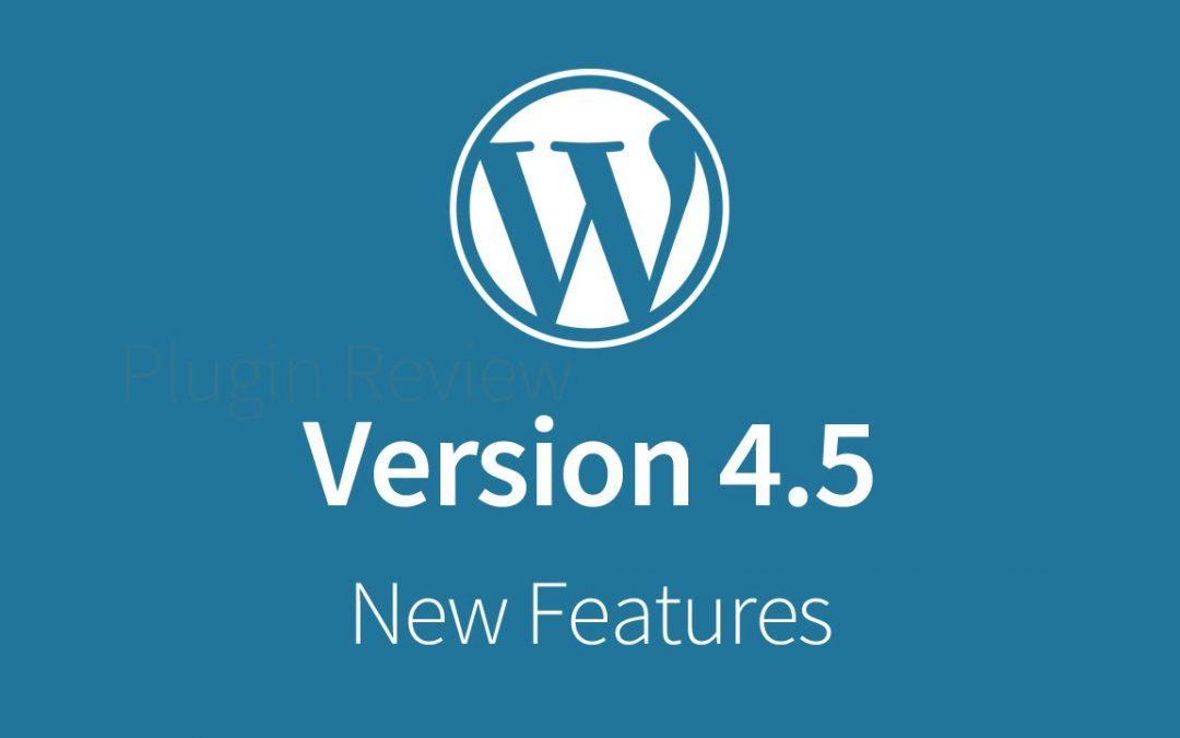 Word Press 4.5
